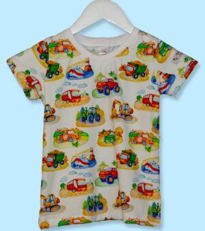 T-Shirt flyg båt lastbil buss